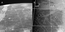 На спутнике Юпитера Ганимеде обнаружена самая большая ударная структура в солнечной системе