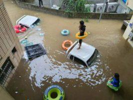 наводнения южная корея
