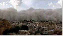 Массивная песчаная буря накрыла Джайсалмер, Индия
