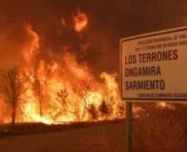 пожары аргентина