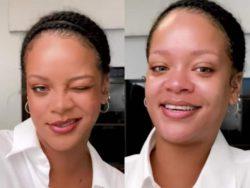 Рианна сняла макияж с лица и поразила поклонников
