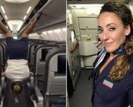 стюардесса,трюк,