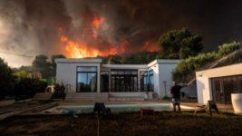 франция лесной пожар