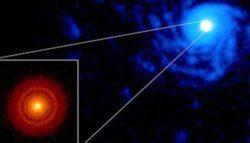 Американские ученые обнаружили «таинственные» спиральные структуры вокруг звезды