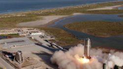Посмотрите потрясающий испытательный полет и посадку прототипа космического корабля SpaceX