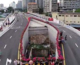 Китай,домик,шоссе,