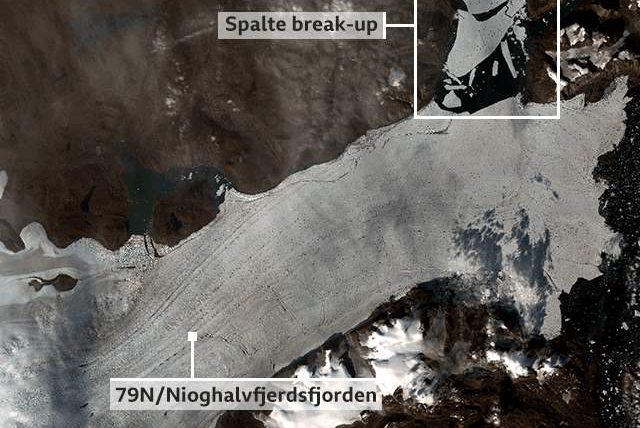 Гренландия,ледник,79N,таяние льда,