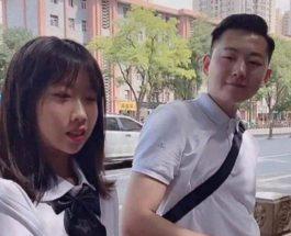 Китаянка,отец,молодой отец,