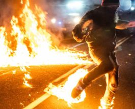 Коктейль Молотова,протесты,Портланд,
