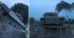 Основной боевой танк Т-90 из бетона возведен во Вьетнаме