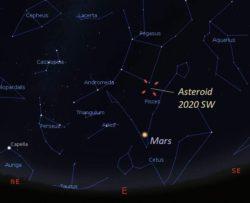 Астероид 2020 SW пройдет очень близко к Земле 24 сентября