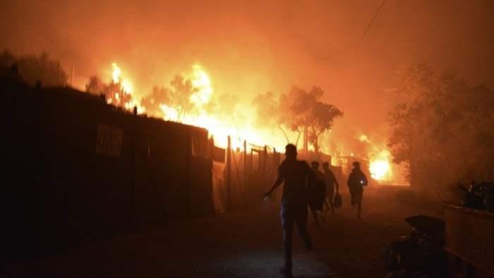 греция пожар