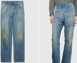 джинсы,Gucci,трава,потертые,