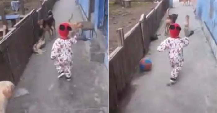 мяч и ребенок