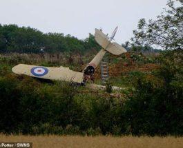 самолет,упал,BE2c,биплан.Великобритания,