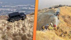 Застрявший на горе Jeep Wrangler приехали спасать добровольцы (ВИДЕО и ФОТО)