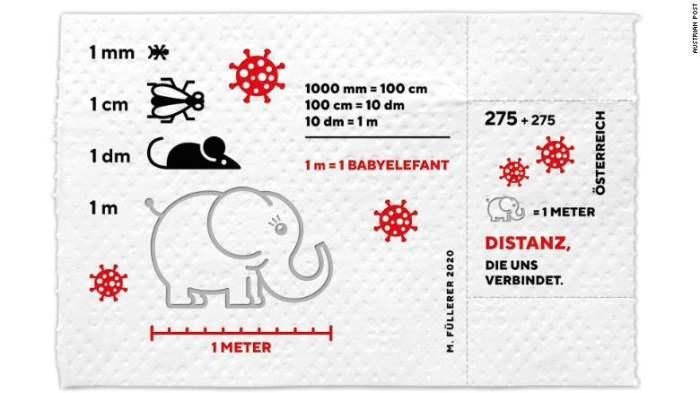 Австрия, марка, туалетная бумага, слоненок,