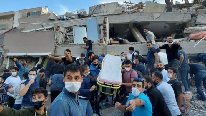 Измир, Турция, землетрясение,