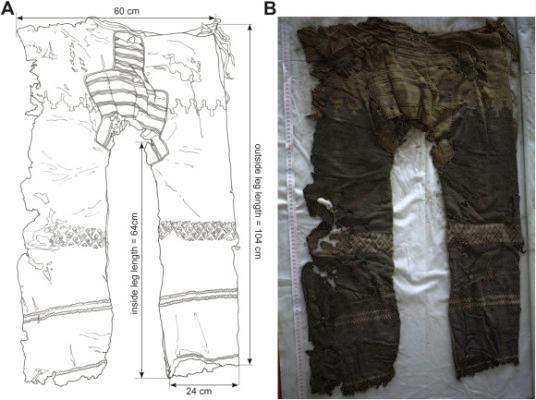 Китай, древние брюки,