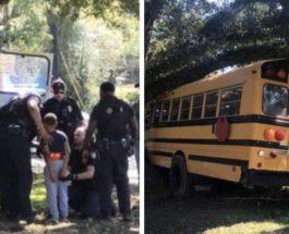 Луизиана,мальчик,школьник,угнал школьный автобус,