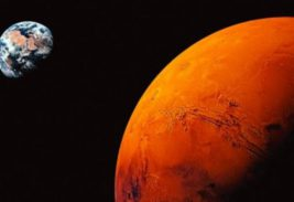 Марс, Земля, Солнце, одна линия,