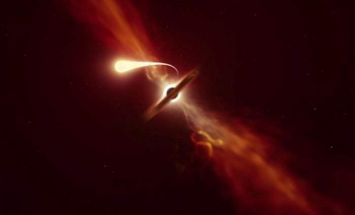 Черная дыра,звезда,поглощение,