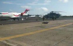Ужасающее видео показывает аварийную посадку мексиканского Ми-17