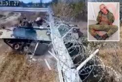 Шокирующий момент: солдаты пробили стену в аэропорту на БМП-3 (ВИДЕО и ФОТО)