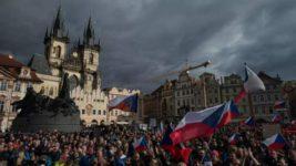 чехия протесты