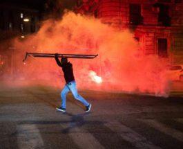 Неаполь, Италия, протесты, коронавирус,