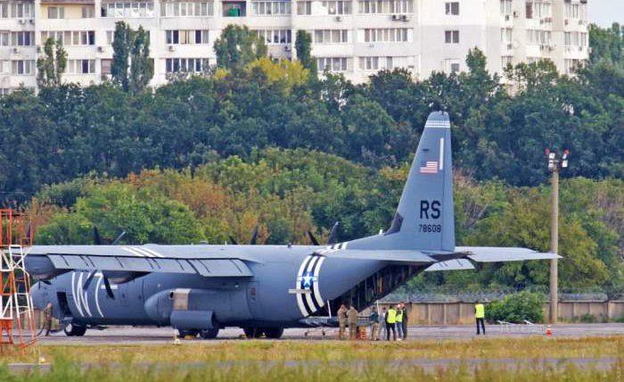 C-130J Super Hercules ВВС США,Украина,аварийная посадка,