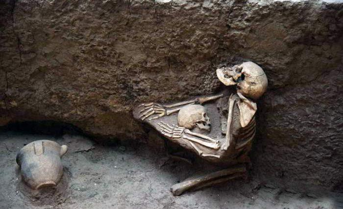 скелет,Китай,мать,ребенок,