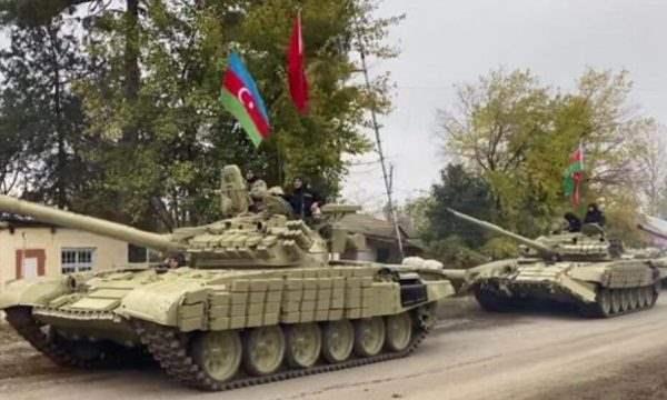 Азербайджанские войска входят в Агдамский район