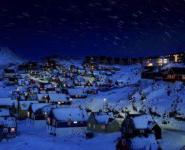 Аляска, полярная ночь, Уткягвик,