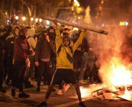 Барселона, беспорядки, карантин,