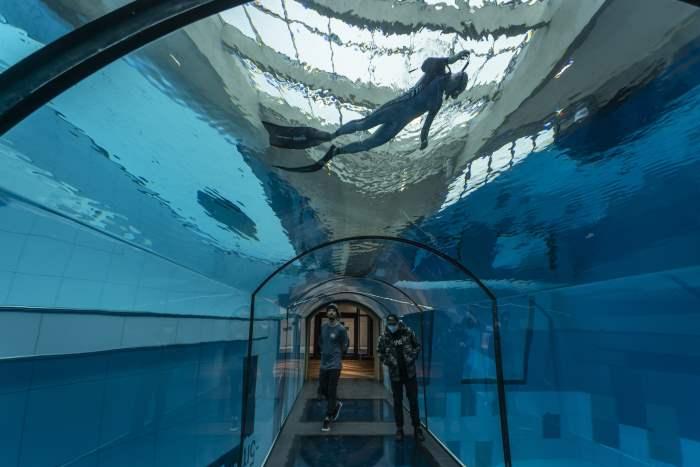 Бассейн, самый глубокий бассейн, Польша, Варшава,