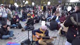 Берлин, протест,covid-19,