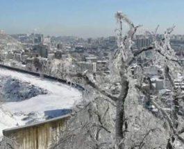 Владивосток, обледенение,