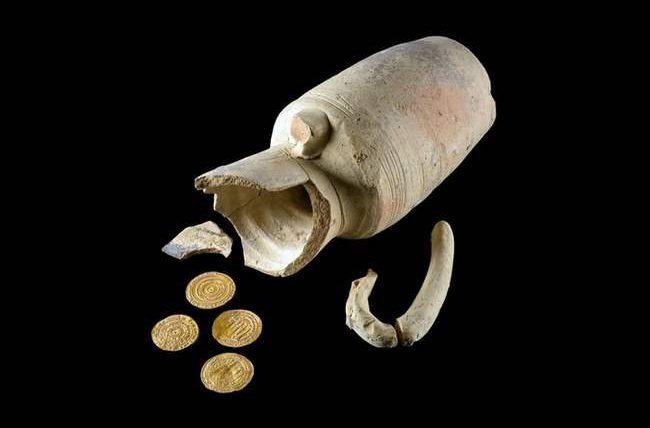 Израиль, клад, монеты, золотые монеты,