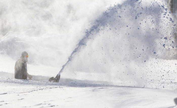 Канада, снег, метель, снежный шторм,
