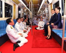 Тайский король, лакеи, Бангкок, метро,