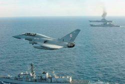 Самолеты RAF Typhoon поднялись на перехват российских военных самолетов возле воздушного пространства Великобритании