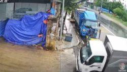 Водитель грузовика восхитил сеть своим дрифтом на скользкой дороге