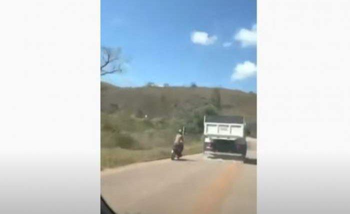мотоцикл,мотоциклист,Бразилия, грузовик,