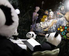 панды в ресторане
