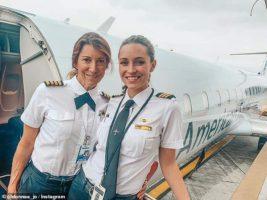 пилоты, мать и дочь,