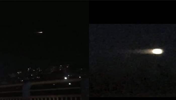 ракета, НЛО, небо,