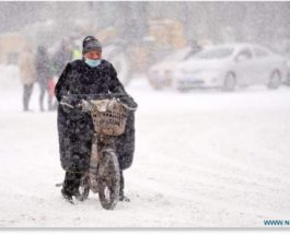 снег, Китай,метель,снежная буря,