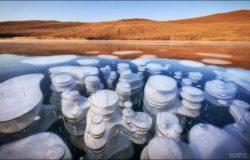 У этих красивых замороженных пузырей есть ядро из смертоносного газа
