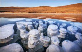 озеро, метан, пузыри,